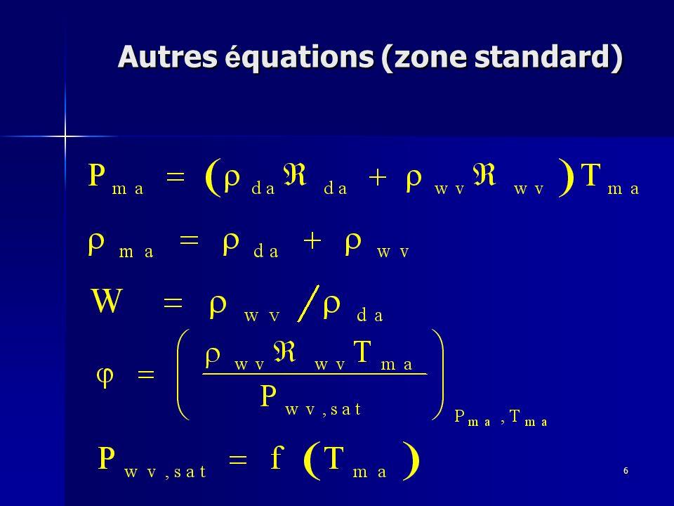 6 Autres é quations (zone standard)