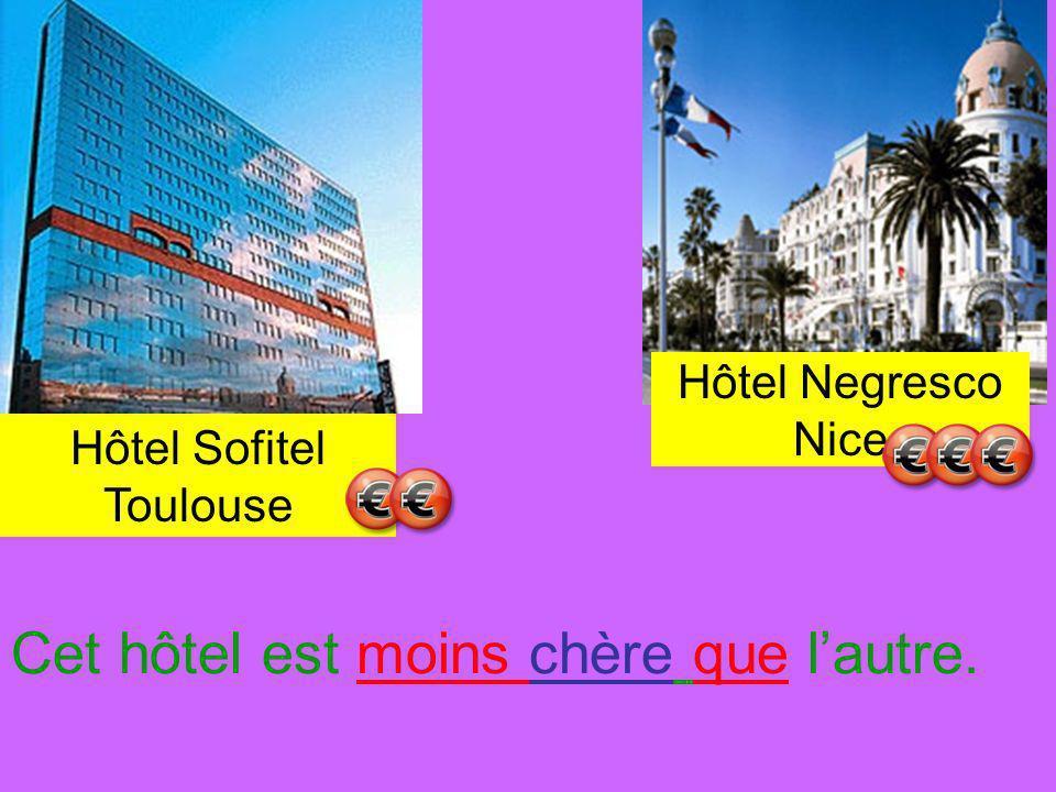 Hôtel Negresco Nice Hôtel Sofitel Toulouse Cet hôtel est moins chère que lautre.