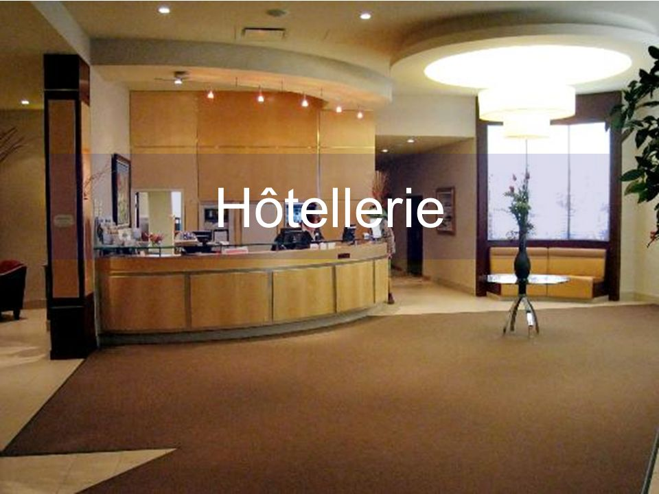 Les Structures daccueil en Hôtellerie Le Schéma fonctionnel dun hôtel