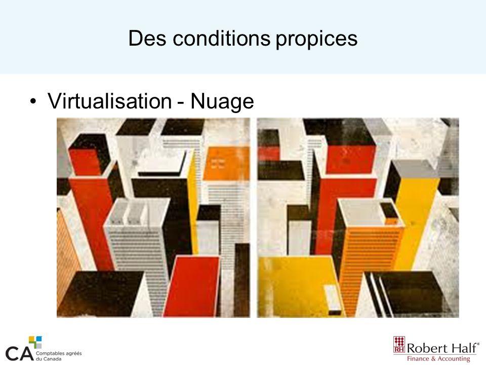 Des conditions propices Virtualisation - Nuage