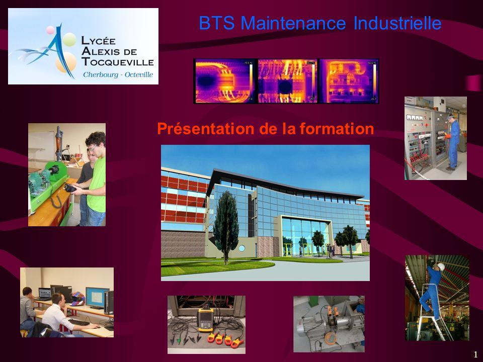 BTS Maintenance Industrielle 1 Présentation de la formation