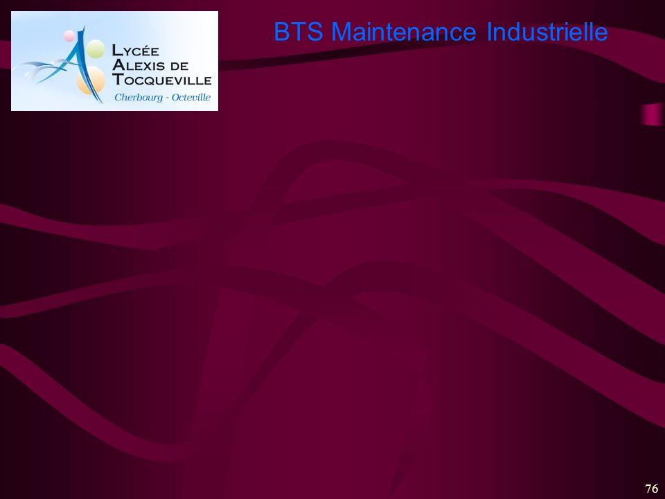 BTS Maintenance Industrielle 76