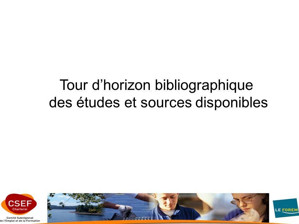 Tour dhorizon bibliographique des études et sources disponibles