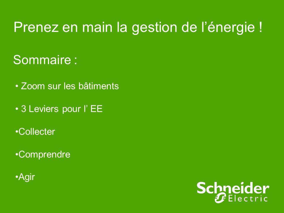 Prenez en main la gestion de lénergie ! Sommaire : Zoom sur les bâtiments 3 Leviers pour l EE Collecter Comprendre Agir