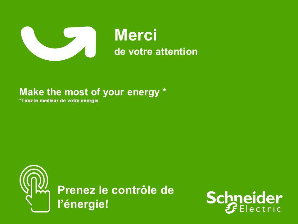 Merci de votre attention Make the most of your energy * *Tirez le meilleur de votre énergie Prenez le contrôle de lénergie!