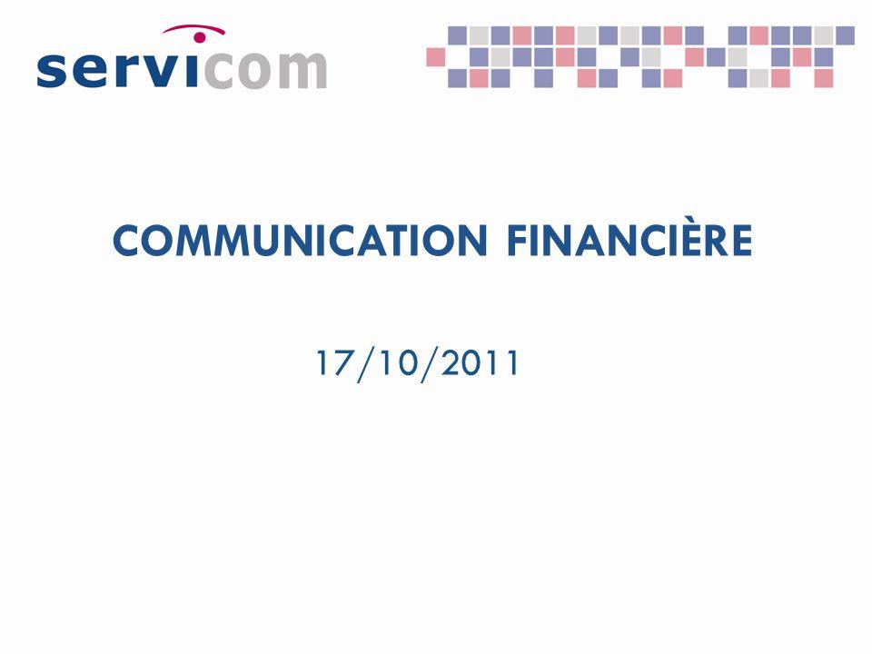 COMMUNICATION FINANCIÈRE 17/10/2011