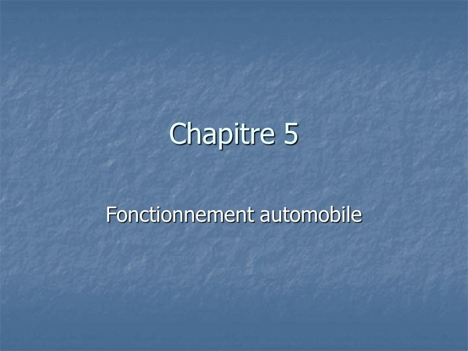 Chapitre 5 Fonctionnement automobile