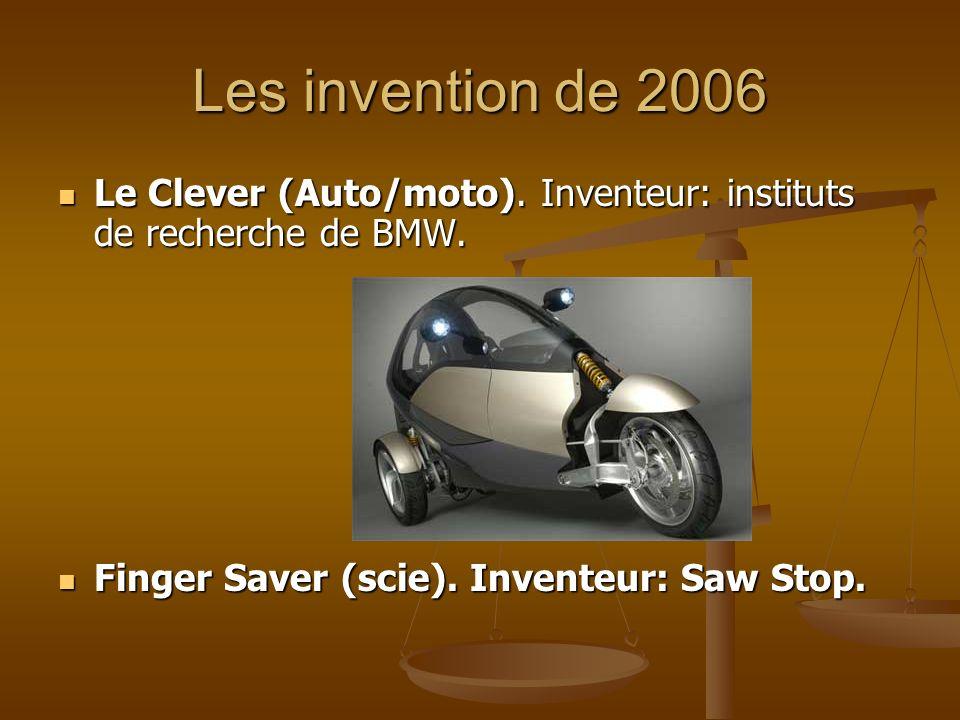 Les invention de 2006 Le Clever (Auto/moto). Inventeur: instituts de recherche de BMW. Le Clever (Auto/moto). Inventeur: instituts de recherche de BMW