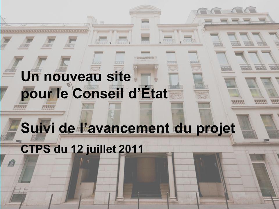 1 Un nouveau site pour le Conseil dÉtat Suivi de lavancement du projet CTPS du 12 juillet 2011