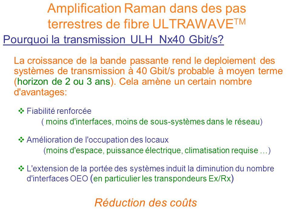 Pourquoi la transmission ULH Nx40 Gbit/s? La croissance de la bande passante rend le deploiement des systèmes de transmission à 40 Gbit/s probable à m