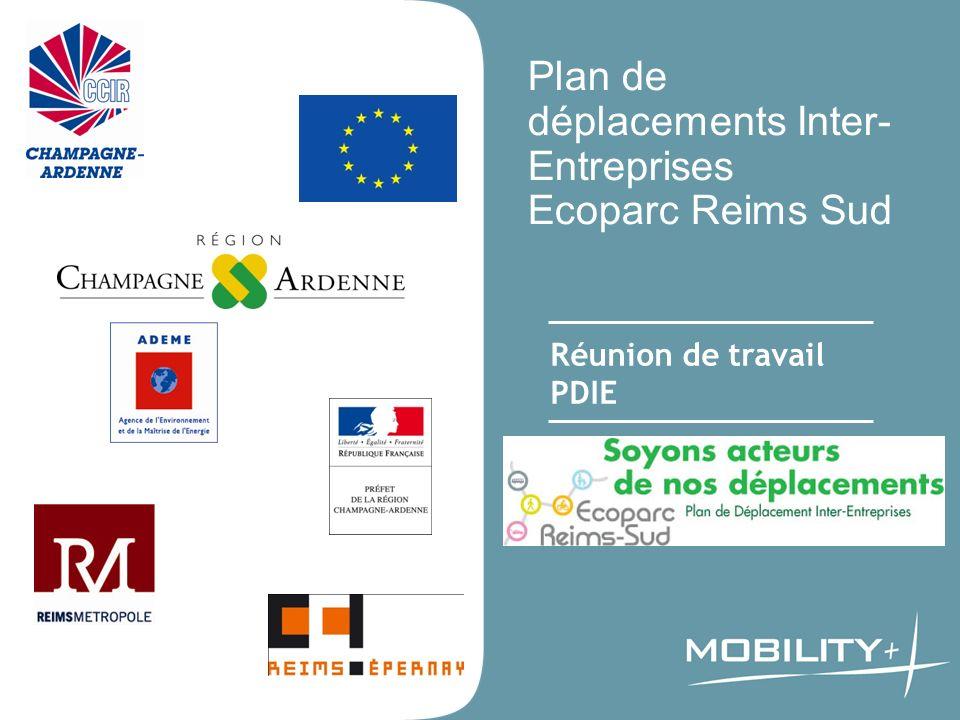 Plan de déplacements Inter- Entreprises Ecoparc Reims Sud Réunion de travail PDIE