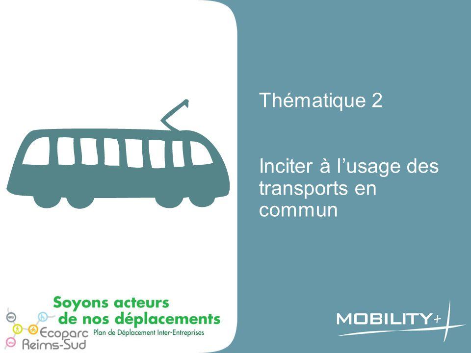 Thématique 2 Inciter à lusage des transports en commun