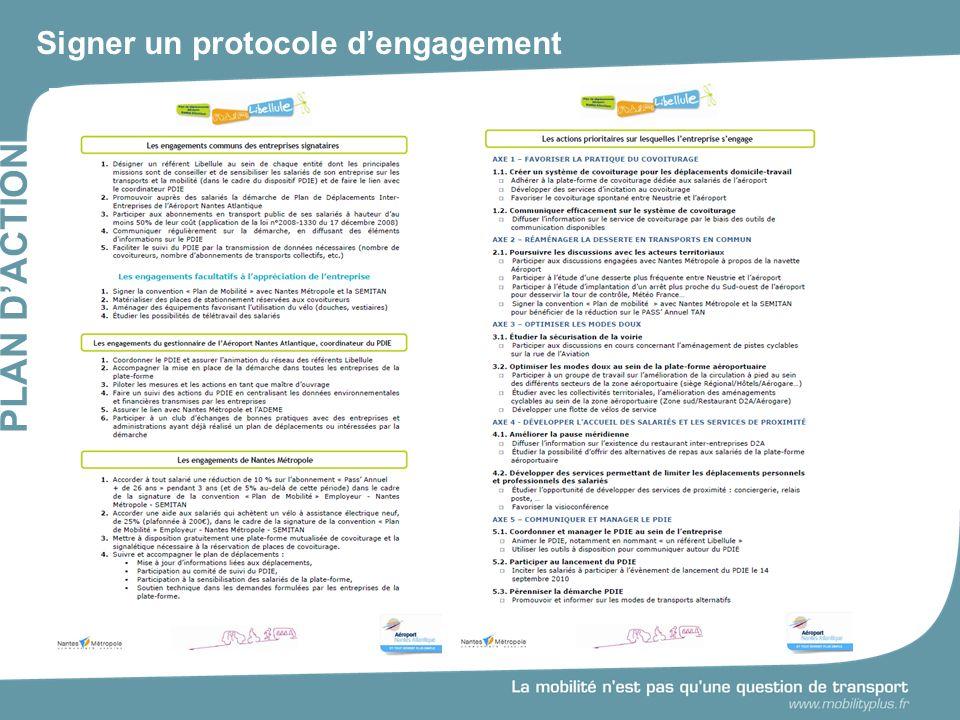 Signer un protocole dengagement PLAN DACTION