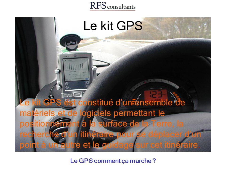Le kit GPS Le GPS comment ça marche ? Le kit GPS est constitué dun ensemble de matériels et de logiciels permettant le positionnement à la surface de