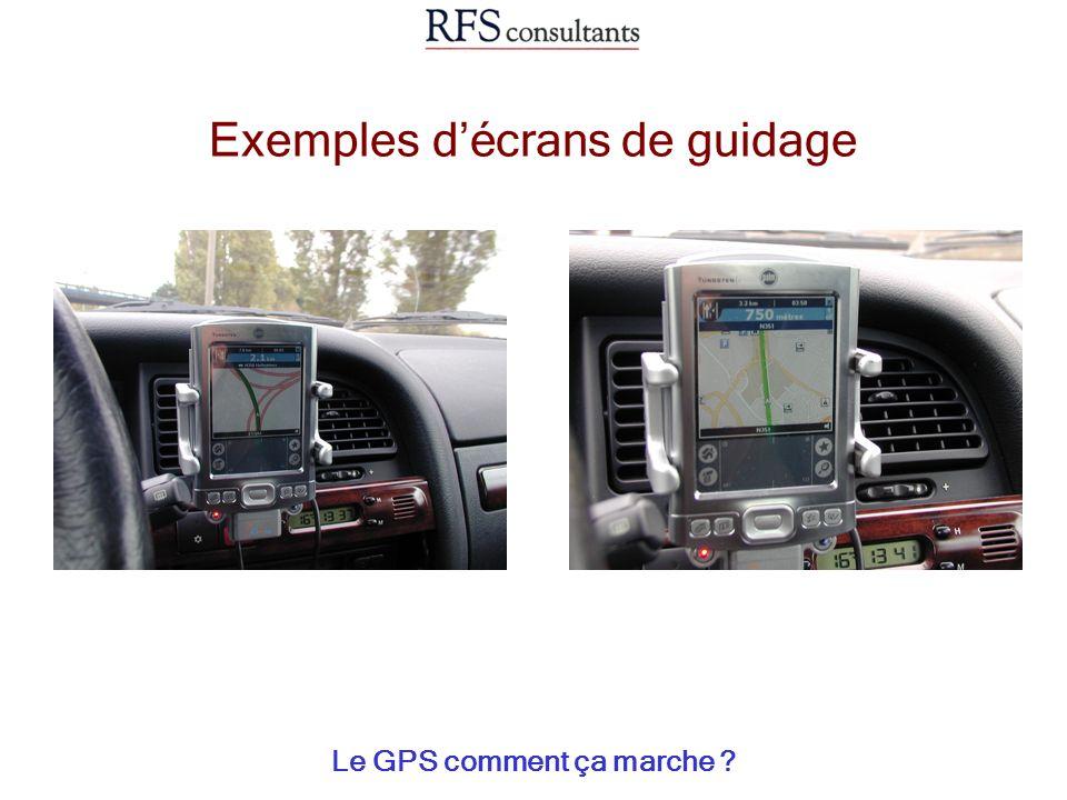 Exemples décrans de guidage Le GPS comment ça marche ?