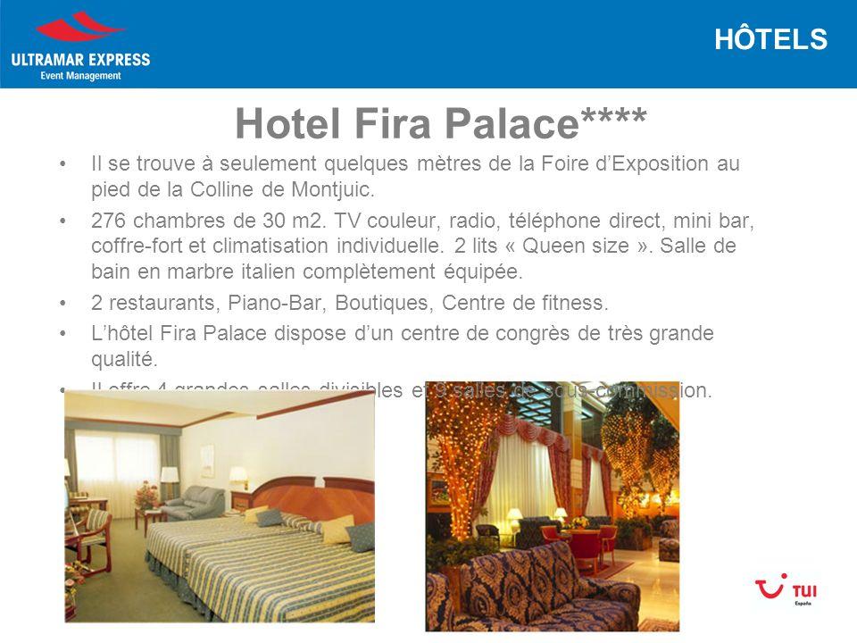 Hotel Fira Palace**** Il se trouve à seulement quelques mètres de la Foire dExposition au pied de la Colline de Montjuic.