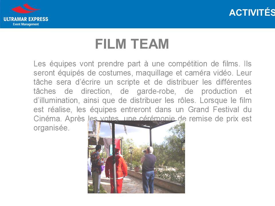 Les équipes vont prendre part à une compétition de films.