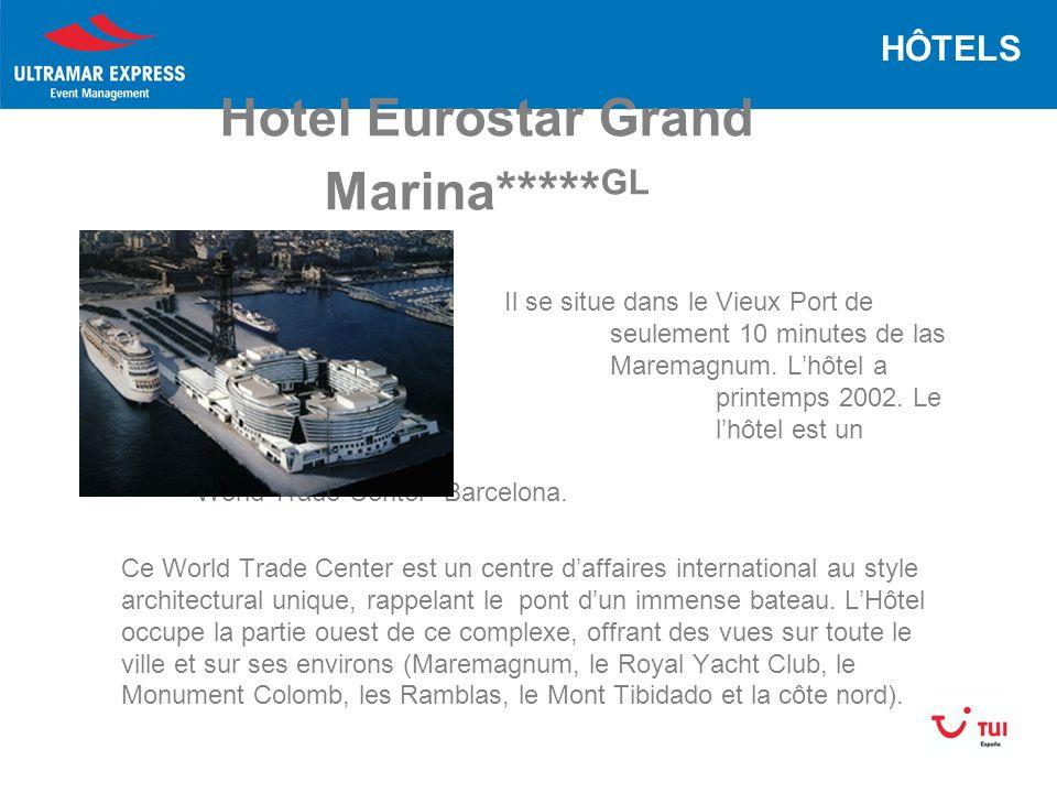 Hotel Eurostar Grand Marina***** GL Il se situe dans le Vieux Port de Barcelona à seulement 10 minutes de las Ramblas et le Maremagnum.