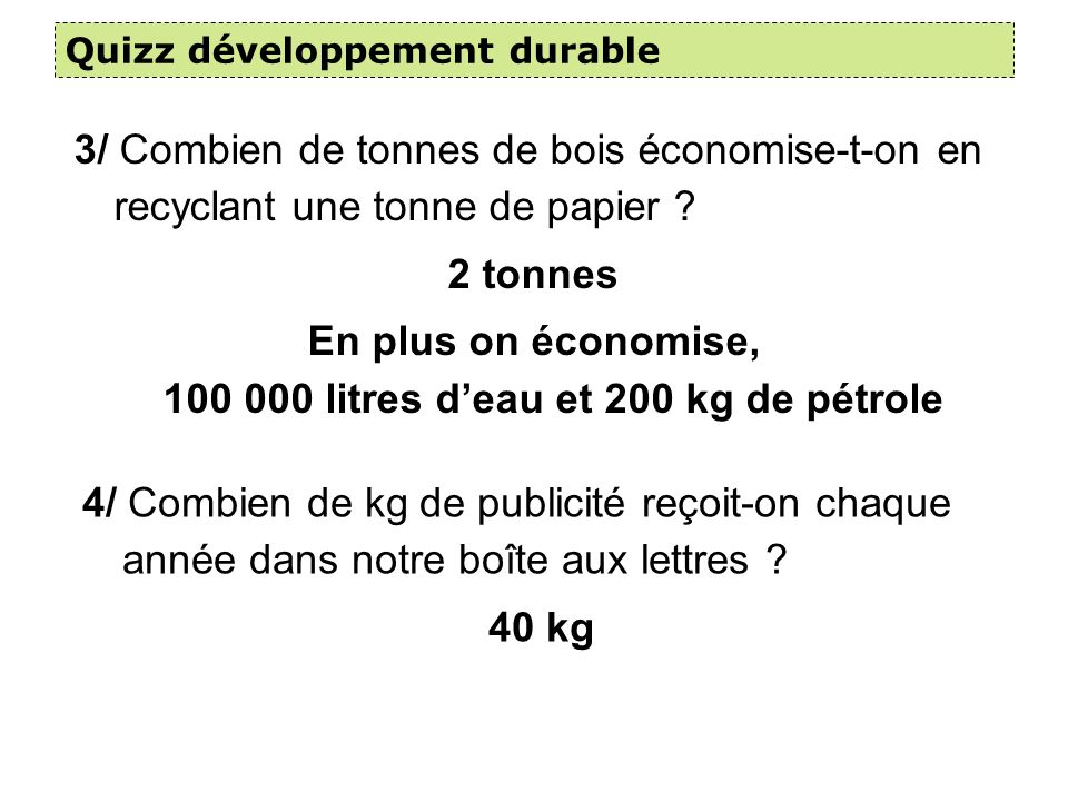 Les déchets ménagers En 2004, chaque français produits 353 kg de déchets/an, soit 1kg/jour.