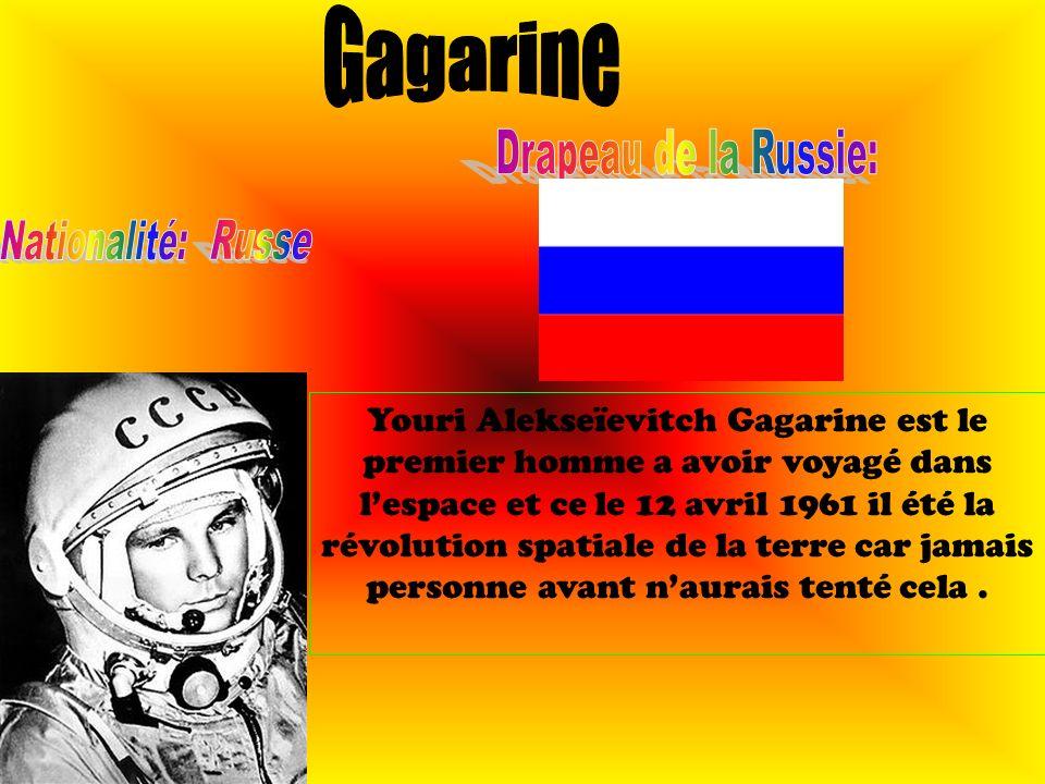 Youri Alekseïevitch Gagarine est le premier homme a avoir voyagé dans lespace et ce le 12 avril 1961 il été la révolution spatiale de la terre car jam