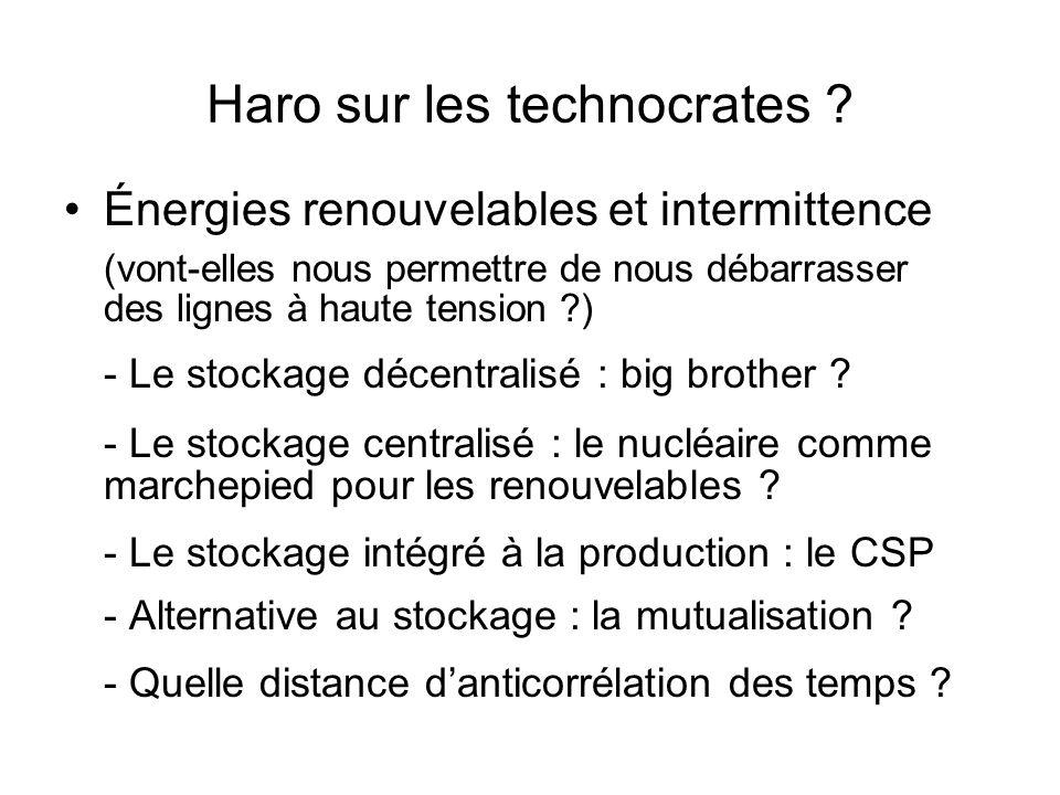 Haro sur les technocrates ? Énergies renouvelables et intermittence (vont-elles nous permettre de nous débarrasser des lignes à haute tension ?) - Le