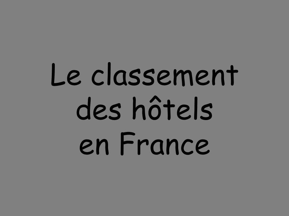 Le classement des hôtels en France