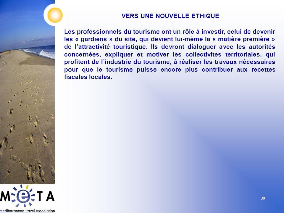 30 Les professionnels du tourisme ont un rôle à investir, celui de devenir les « gardiens » du site, qui devient lui-même la « matière première » de l