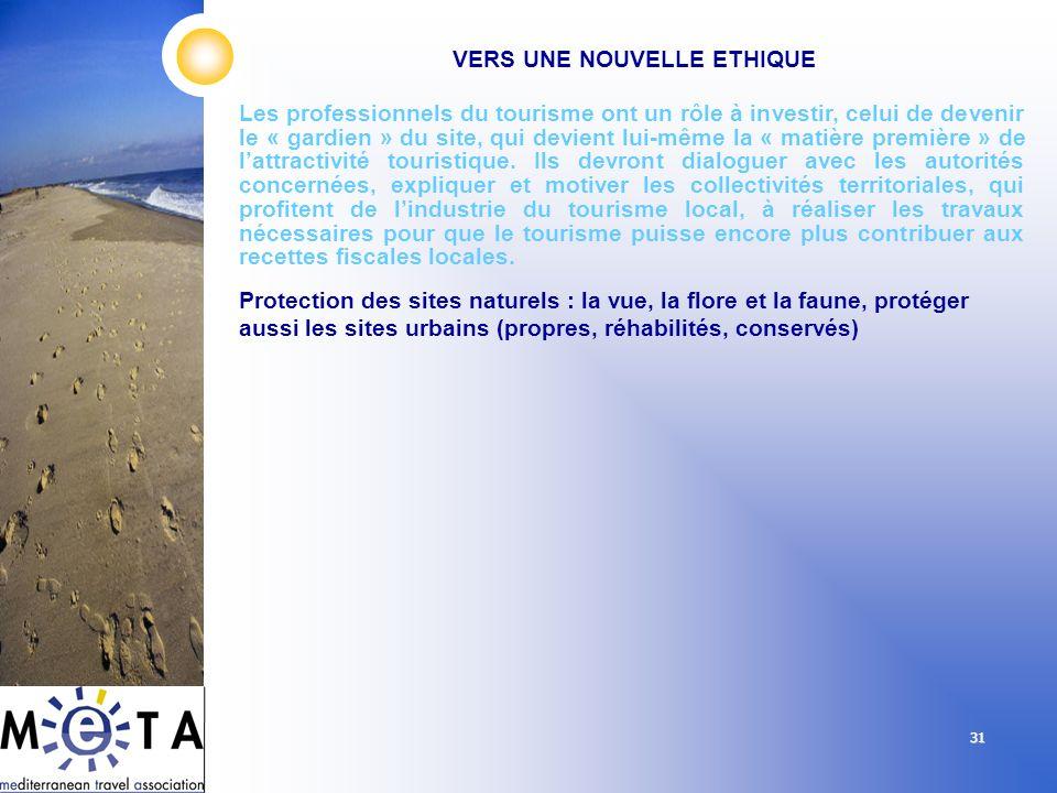 31 Les professionnels du tourisme ont un rôle à investir, celui de devenir le « gardien » du site, qui devient lui-même la « matière première » de lat