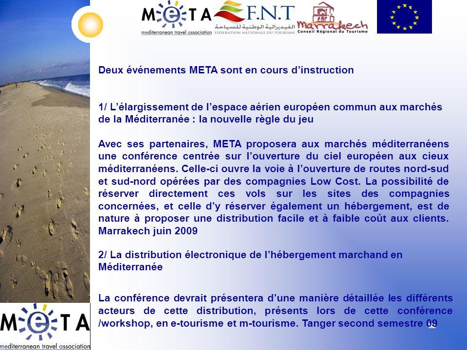 5252525252 1/ Lélargissement de lespace aérien européen commun aux marchés de la Méditerranée : la nouvelle règle du jeu Avec ses partenaires, META pr