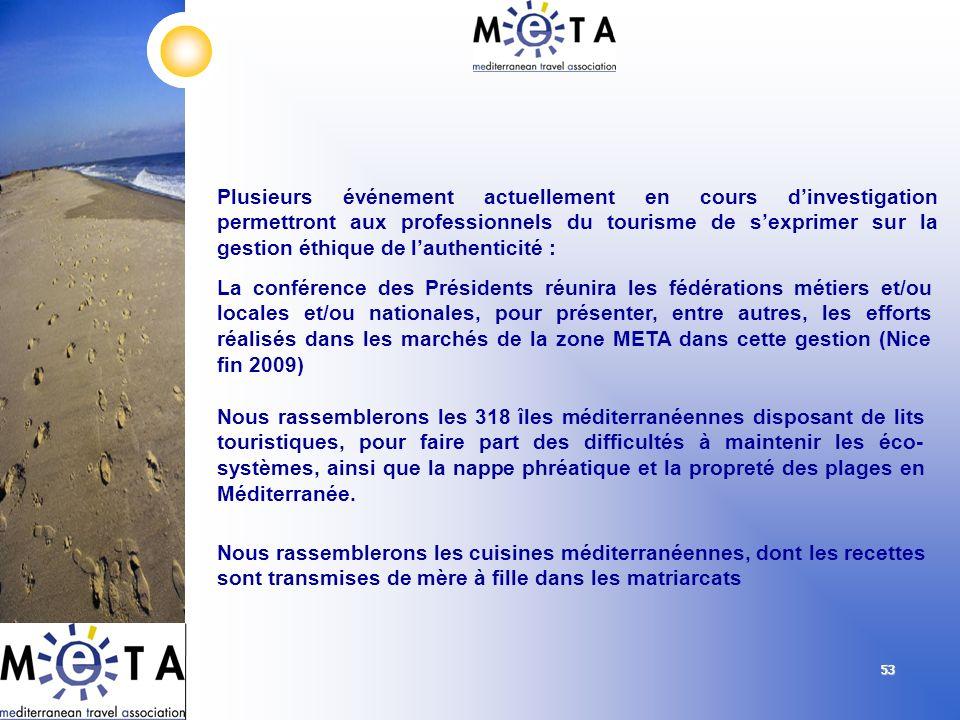 5353 Plusieurs événement actuellement en cours dinvestigation permettront aux professionnels du tourisme de sexprimer sur la gestion éthique de lauthe