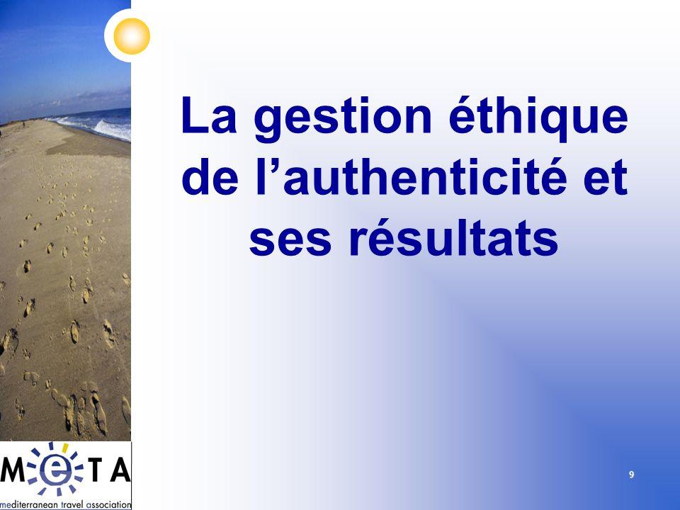9 La gestion éthique de lauthenticité et ses résultats
