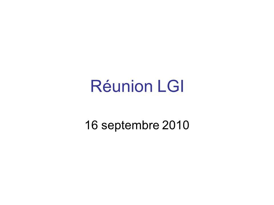 Réunion LGI 16 septembre 2010