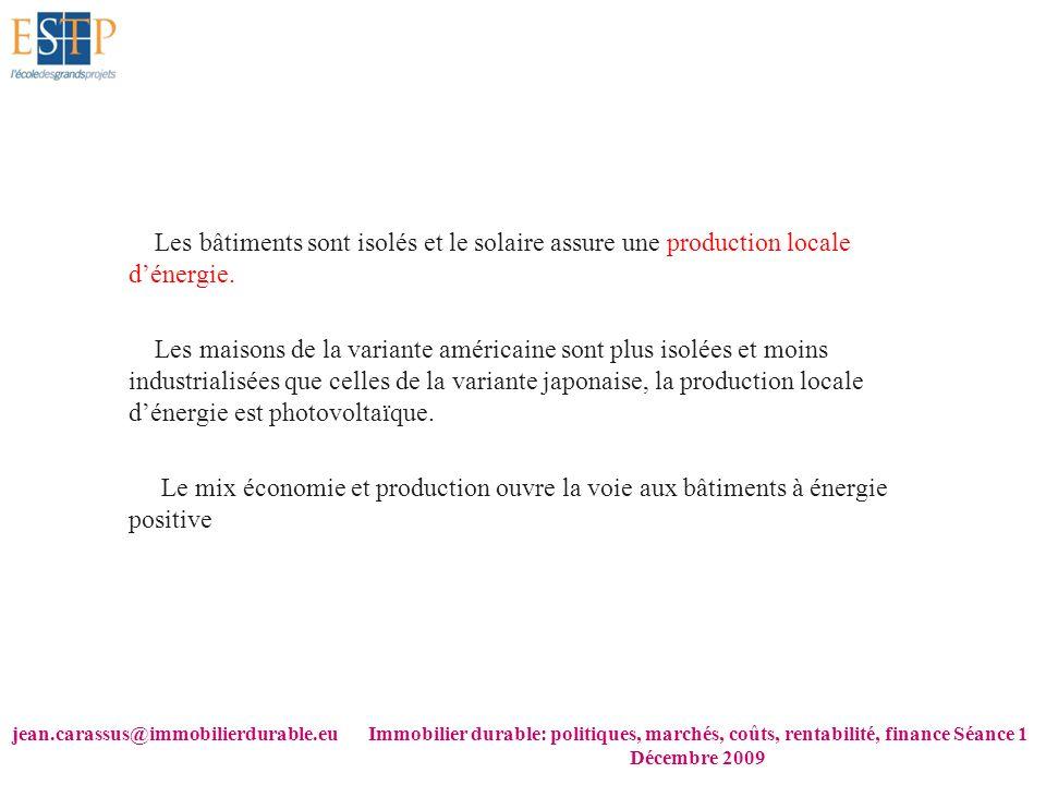 jean.carassus@immobilierdurable.euImmobilier durable: politiques, marchés, coûts, rentabilité, finance Séance 1 Décembre 2009 Les bâtiments sont isolé