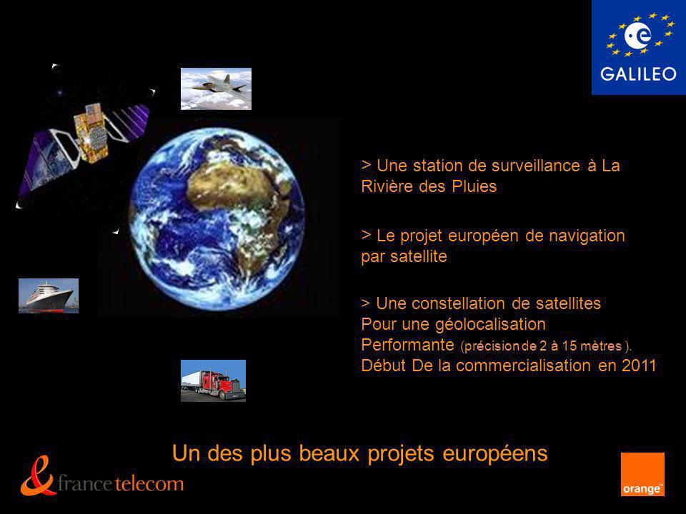 > Une constellation de satellites Pour une géolocalisation Performante (précision de 2 à 15 mètres ). Début De la commercialisation en 2011 > Une stat