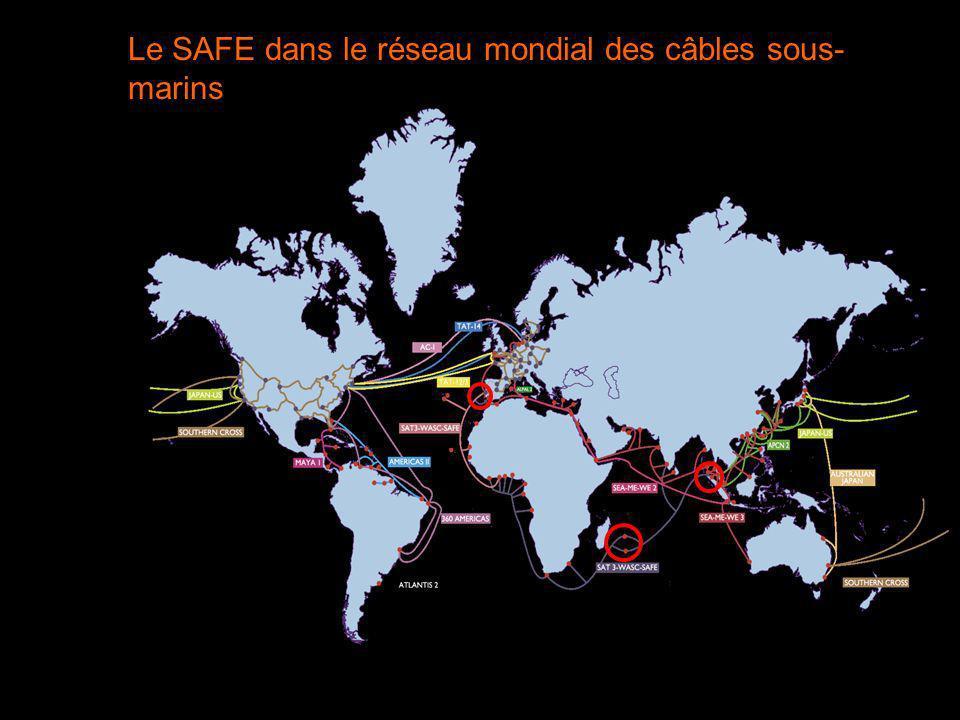 Le SAFE dans le réseau mondial des câbles sous- marins