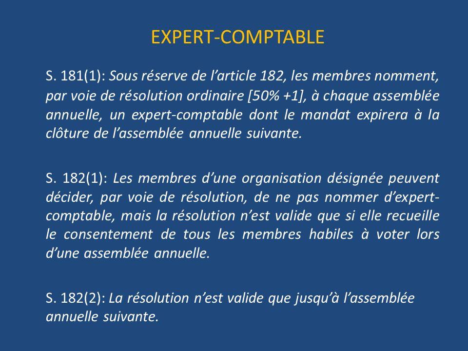 EXPERT-COMPTABLE S.