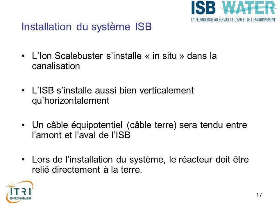 17 Installation du système ISB LIon Scalebuster sinstalle « in situ » dans la canalisation LISB sinstalle aussi bien verticalement quhorizontalement U