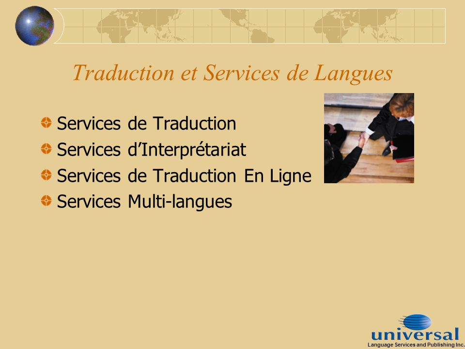 Traduction et Services de Langues Services de Traduction Services dInterprétariat Services de Traduction En Ligne Services Multi-langues Language Serv
