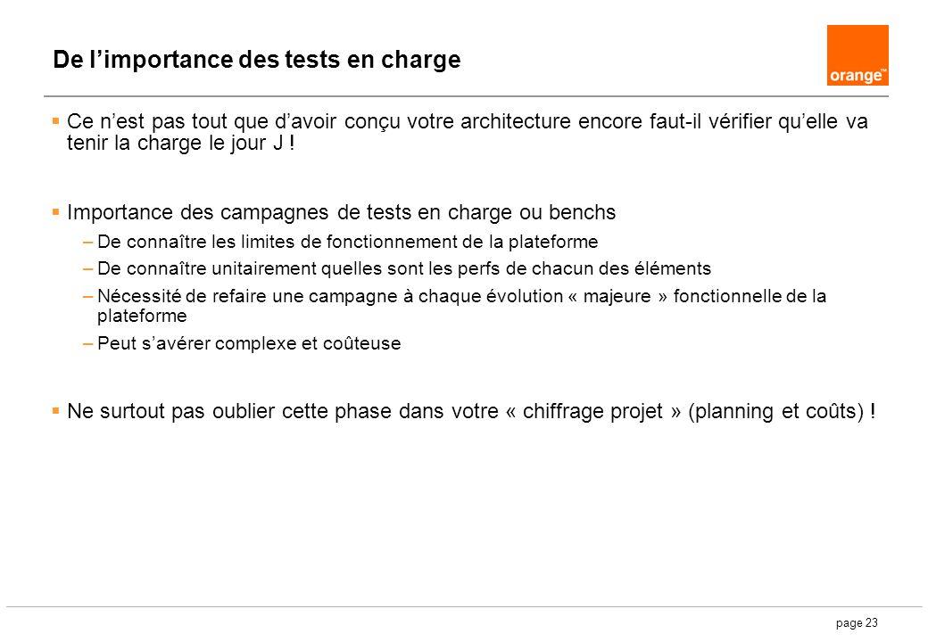 page 23 De limportance des tests en charge Ce nest pas tout que davoir conçu votre architecture encore faut-il vérifier quelle va tenir la charge le j
