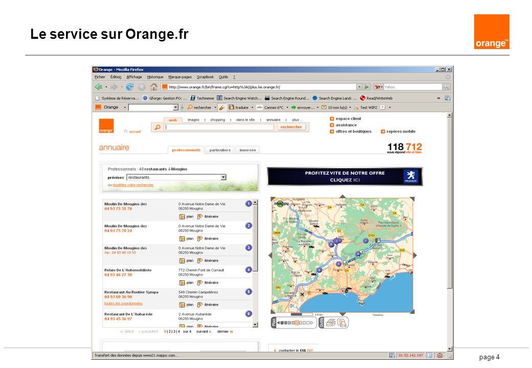 page 4 Le service sur Orange.fr