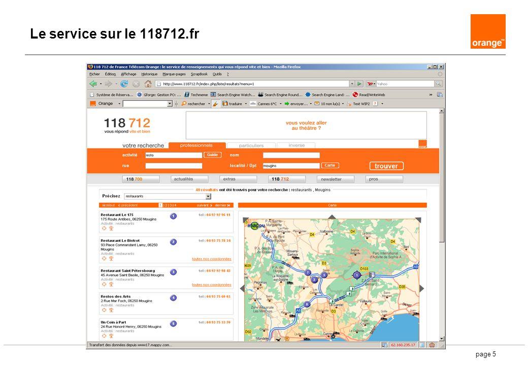 page 5 Le service sur le 118712.fr