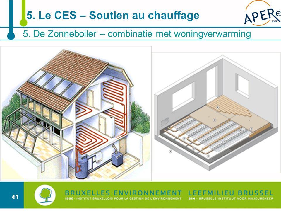 41 5. De Zonneboiler – combinatie met woningverwarming 5. Le CES – Soutien au chauffage