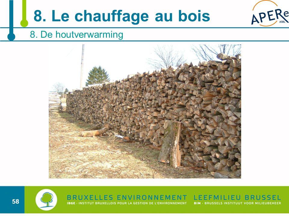 58 8. De houtverwarming 8. Le chauffage au bois