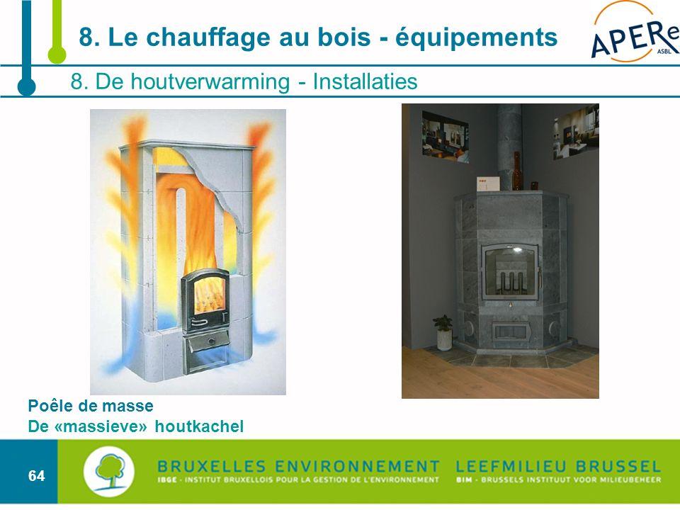 64 8. De houtverwarming - Installaties 8. Le chauffage au bois - équipements Poêle de masse De «massieve» houtkachel
