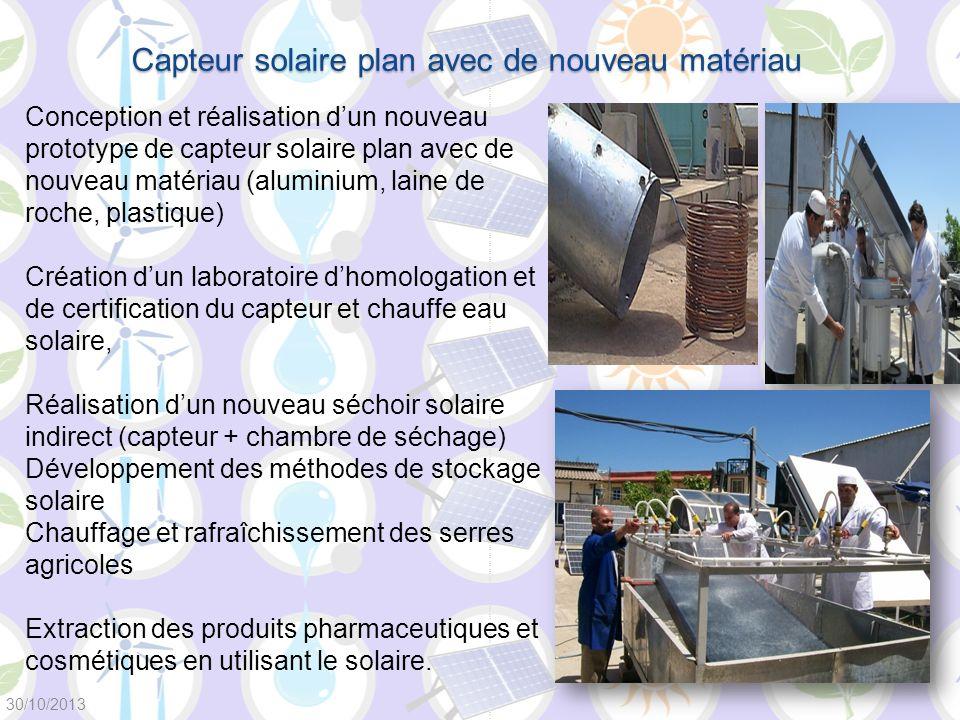 Conception et réalisation dun nouveau prototype de capteur solaire plan avec de nouveau matériau (aluminium, laine de roche, plastique) Création dun l