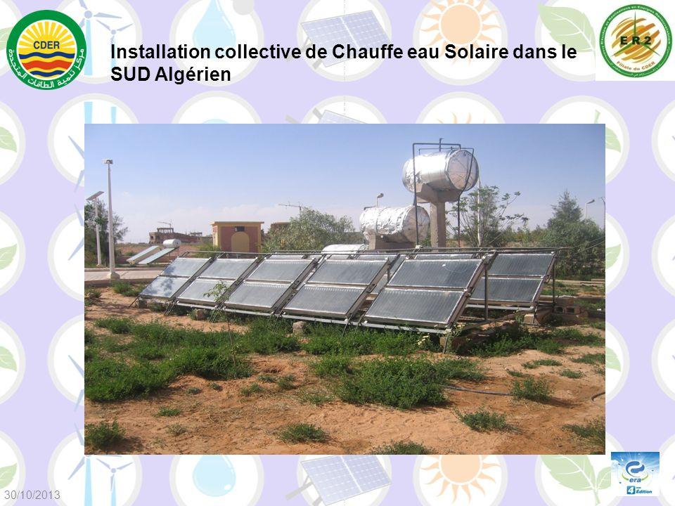 Installation collective de Chauffe eau Solaire dans le SUD Algérien 30/10/2013