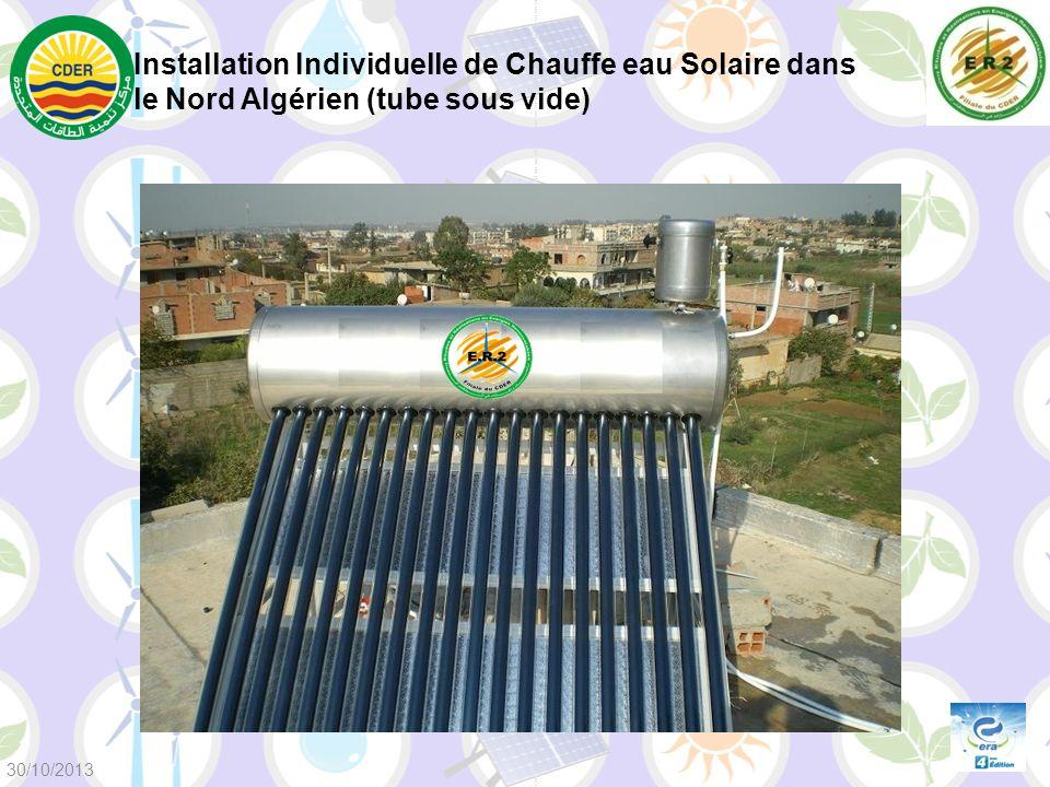 Installation Individuelle de Chauffe eau Solaire dans le Nord Algérien (tube sous vide) 30/10/2013