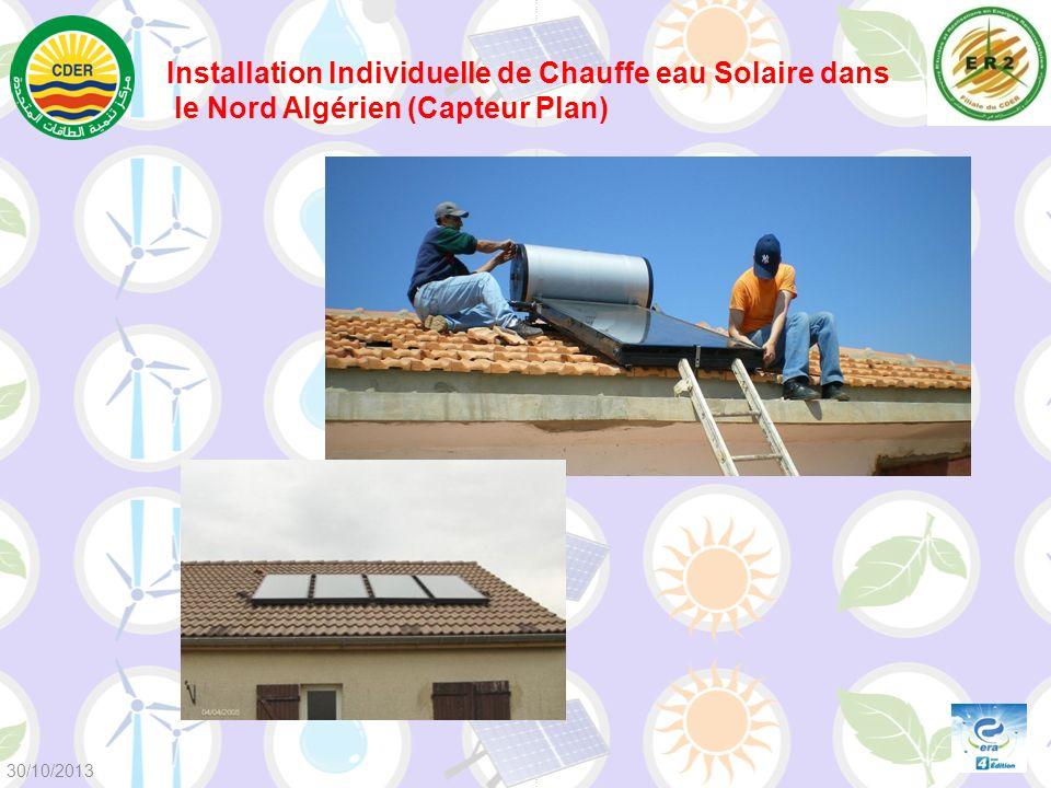 Installation Individuelle de Chauffe eau Solaire dans le Nord Algérien (Capteur Plan) 30/10/2013