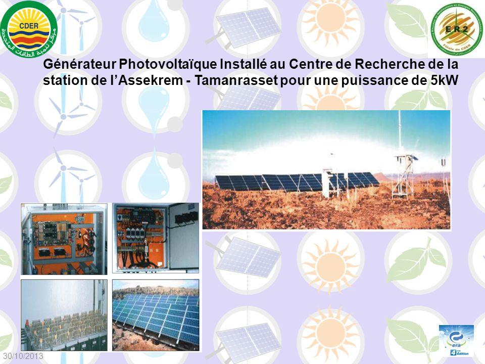 Générateur Photovoltaïque Installé au Centre de Recherche de la station de lAssekrem - Tamanrasset pour une puissance de 5kW 30/10/2013