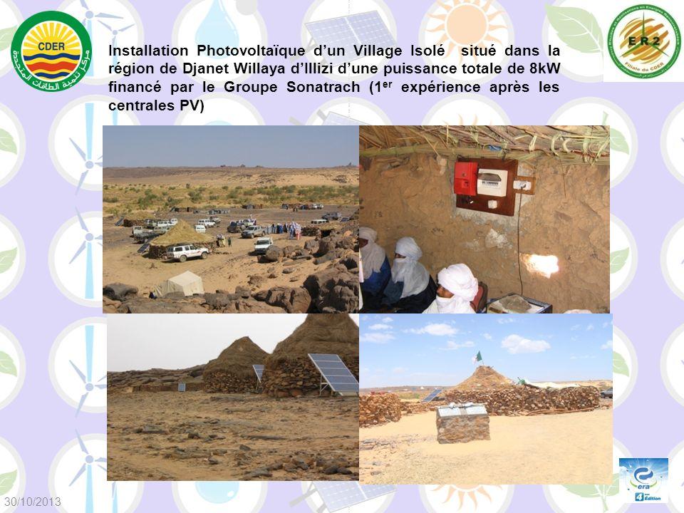 Installation Photovoltaïque dun Village Isolé situé dans la région de Djanet Willaya dIllizi dune puissance totale de 8kW financé par le Groupe Sonatr